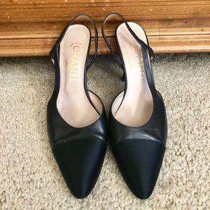 Vintage Chanel clear-heel pumps